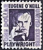 a stamp shows Eugene O�Neill American playwright and Nobel laureate in Literature