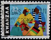 United States Of America - Circa 1997: A Stamp Printed In Usa Dedicated To Kwanzaa, Circa 1997