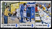 UNITED STATES OF AMERICA - CIRCA 1970: A stamp printed in USA dedicated to postal service circa 1970