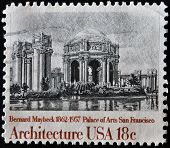 UNITED STATES OF AMERICA - CIRCA 1981: A stamp printed in USA shows Palace of the Arts Bernard Maybe