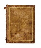 Old Worn Book Cover Isolated On White Background