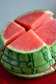 Sliced watermelon stack