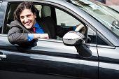 Young Businessman Parking His Car