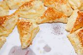 Puff Cookies Apple Turnovers Food Background