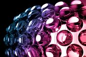 Abstract Colorful Background With Glass Spherical Design Elements
