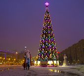 Moscow, Christmas Tree On