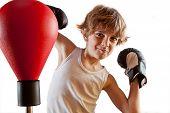 Kid boxing