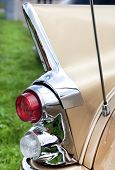 Classic Old Car Back View