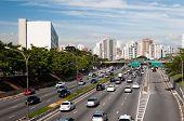 Traffic avenue city sao paulo