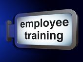 Education concept: Employee Training on billboard background