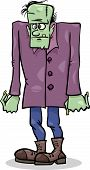 foto of frankenstein  - Cartoon Illustration of Spooky Halloween Frankenstein Monster - JPG