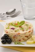 picture of tabouleh  - Tabouleh salad in a ceramic bowl - JPG