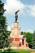Lenin monument on the territory of Kostroma Kremlin (Golden Ring of Russia)