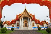 image of reign  - The Marble Temple in Thailand - JPG