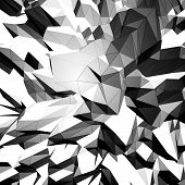 Grayscale triangular background
