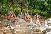 picture of budha  - Budha statue in Swayambhunath  Monkey temple in Kathmandu - JPG
