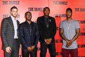 NEW YORK-SEP 10: NBA player Chandler Parsons, John Wall, Amar'e Stoudemire and Iman Shumpert attend