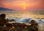 Ionian sea sunset. Albania