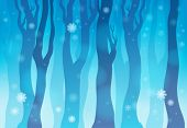 Winter forest theme image 1 - eps10 vector illustration.