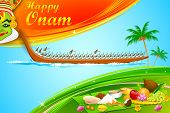 illustration of Onam wallpaper of Kerala