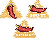 Spicy Hot Chili Pepper Warning Signs