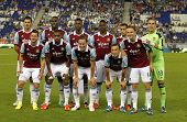BARCELONA - SEPT, 5: West Ham United team before a friendly match against RCD Espanyol at the Estadi