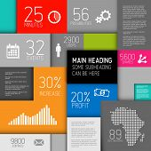 Vector abstract boxes background illustration / infographic template with place for your content