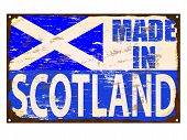 Made In Scotland Enamel Sign