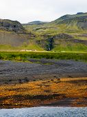 Icelandic Colored Landscape Near Skogar