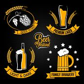 image of malt  - beer glass bottle label set - JPG