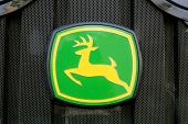 Sign John Deere On Tractor Front Grill
