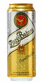 Can Of Zlaty Bazant Beer Isolated On White
