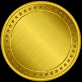 Gold Medal, Blank Golden Medal Vector Illustration