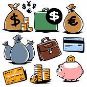 banking illustration icons set 2