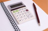 Financial Planning Notepad With Calculator And Pen