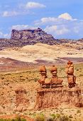 Three Sisters Hoodoos Goblin Valley State Park Rock Canyon Wild Horse Butte Utah