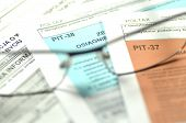 closeup of polish tax forms