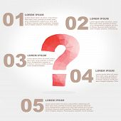Vector Question Mark Polygon Infographic Element With Flat Color