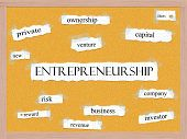 picture of entrepreneurship  - Entrepreneurship Corkboard Word Concept with great terms such as ideas new venture and more - JPG
