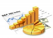 Gold Chart, Money, Financial Statement.