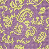 Abstract seamless pattern with curves.