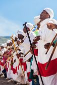 Ethiopian Priests dance during Timkat