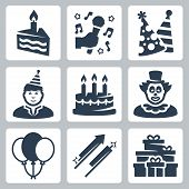 Vector Birhday And Party Icons Set