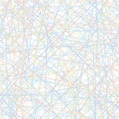 Vector Seamless Simple Pattern - Set Of Intersecting Color Lines