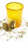Cannabis and Marijuana, White Background
