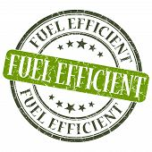 foto of fuel efficiency  - Fuel Efficient green grunge round stamp on white background - JPG