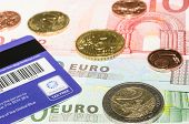 Magnetic Stripe Card From Global Blue Company On European Currency