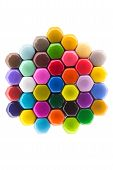 Vivid Hexagonal Pattern In Rainbow Colours