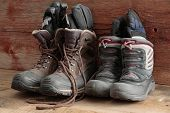 Adult And Kids Old Winter Snow Boots