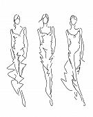 Sketch Fashion Poses - fashion hand drawing